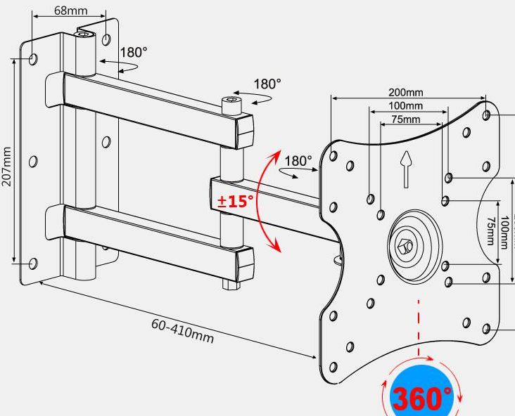 Tv Wall Mount Drawing Schematic Diagram