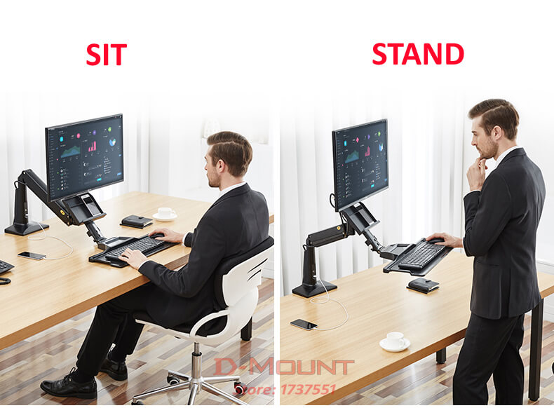 Fc35 Sit Or Stand Work Station For Desktop Of Size Up To