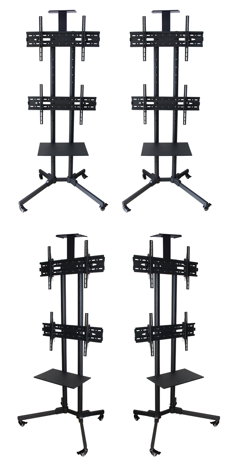 D910c Dual Tv Mobile Cart Tv Stand For Tv To 47 Quot Tv