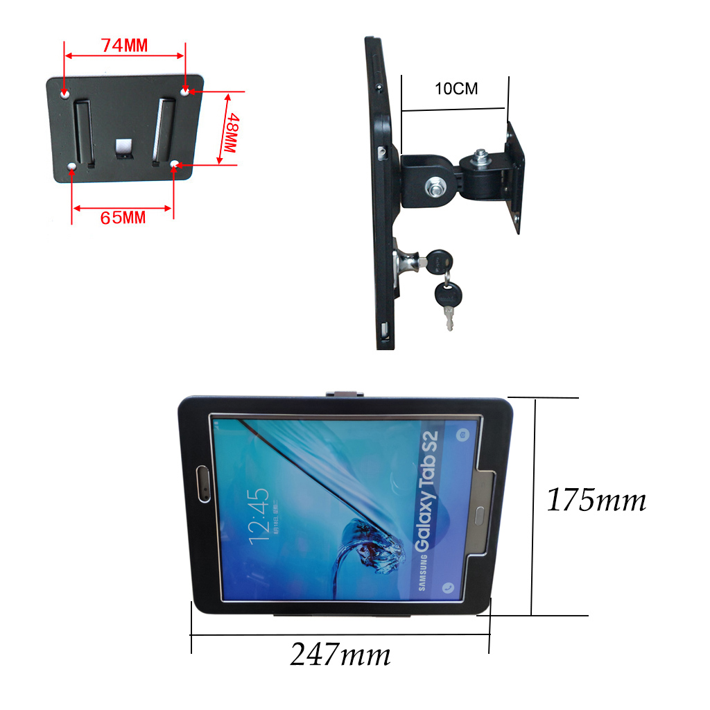 Avr25008g Full Motion 9 7 Quot Samsung Tablet Wall Bracket